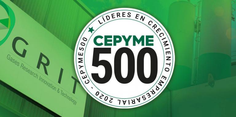 GRIT, seleccionada Empresa CEPYME500 en el año 2020. 2